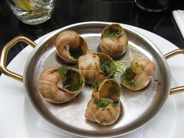 Random Acts of Creativity celebrates National Escargot Day! Here's to snails! What I actually mean is here's to the buttery garlic sauce in which the escargot swim. Chunk of bread and garlic butter? Snails forgotten. Yummmmmmm!!!