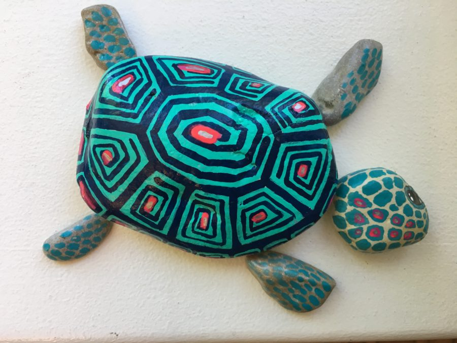 Photo of painted rock turtle. Photo courtesy Random Acts of Creativity